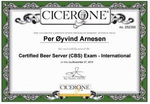 Certified Beer Server
